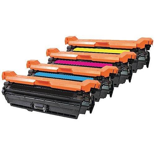 HP 504A Compatible 4-Colour Toner Cartridges Q-Connect CE250A