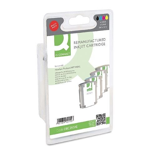 HP 940XL Compatible 4-Colour High Capacity Inkjet Cartridges Multipack C2N93AE Q-Connect