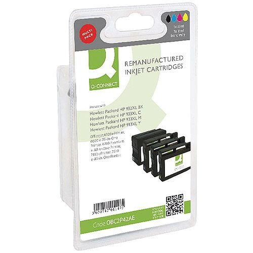 Q-Connect HP 932XL/933XL Inkjet Cartridge Colour Pack of 4 C2P42AE-COMP