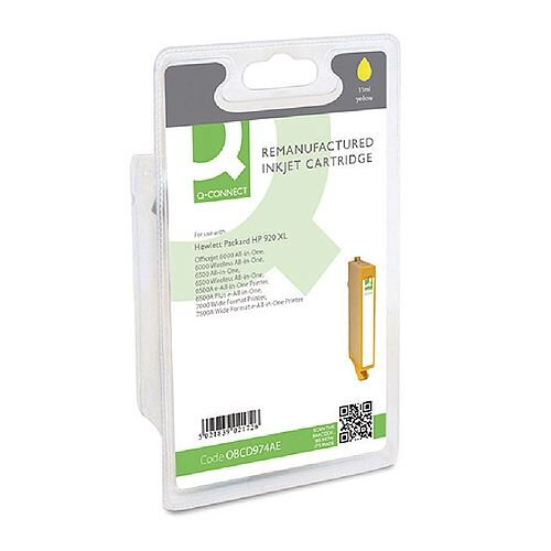 HP 920XL Compatible Yellow High Capacity Inkjet Cartridge CD974AE Q-Connect
