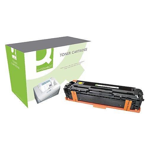 Q-Connect HP 128A Compatible Yellow LaserJet Toner Cartridge CE323A