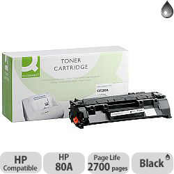 HP 80A Compatible Black Toner Cartridge CF280A Q-Connect