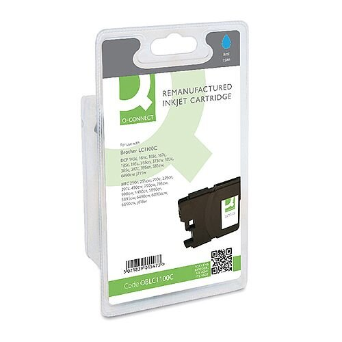 Brother LC-1100C Compatible Cyan Ink Cartridge Q-Connect LC1100C