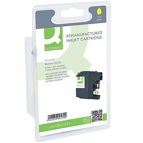 Brother LC-123Y Compatible Yellow Ink Cartridge LC123Y Q-Connect