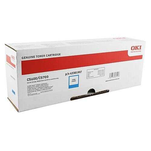 Oki 44315307 Cyan Toner Cartridge