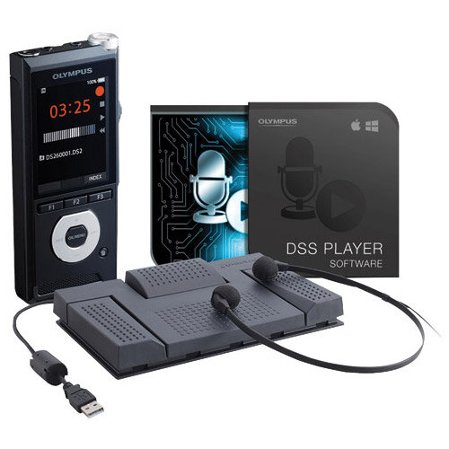 Olympus DS-2600 and AS-2400 Dictation and Transcription Starter Kit DS-2600+AS-2400