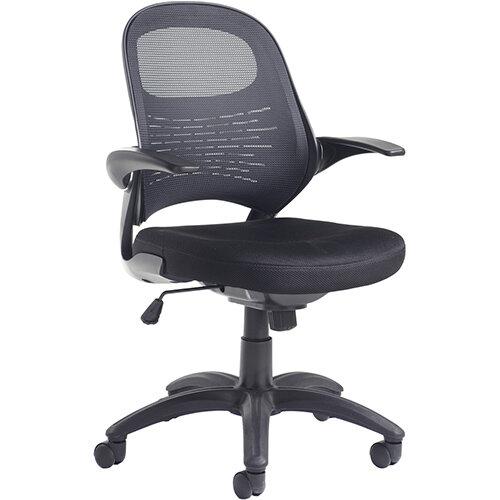 Orion mesh back operators chair - black