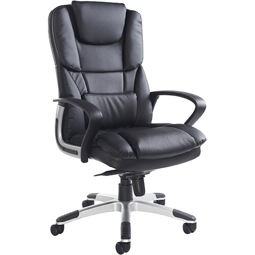 Palermo high back executive chair - black faux leather