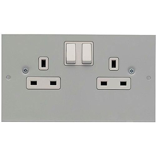 3 Compartment 13A Twin Switched Socket Outlet
