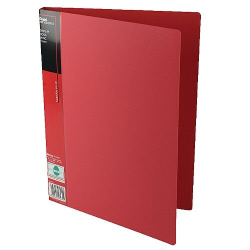 Pentel Recycology Display Book A4 Wing 20-Pocket Red DCF442B