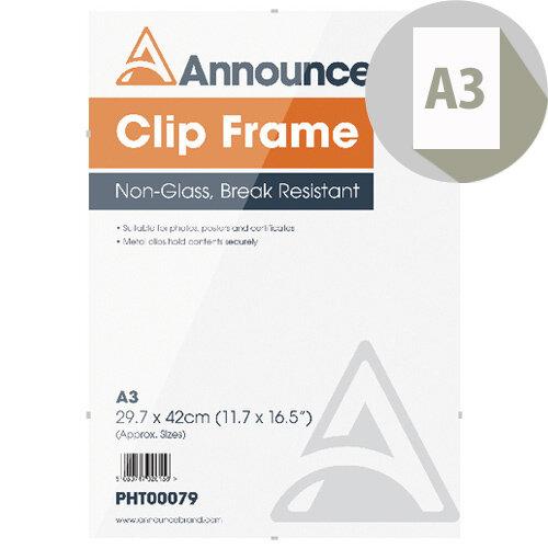 Announce A3 Clip Frame PHT00079
