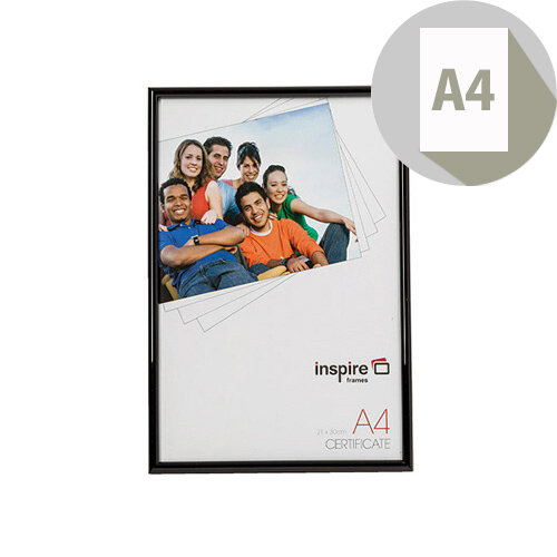 Photo Album Company Backloader A4 Black Glass