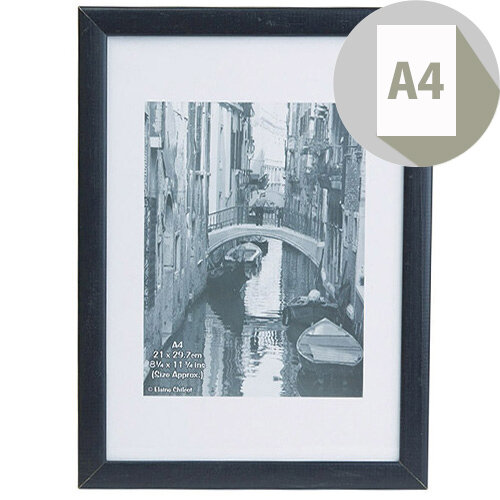 Photo Album Company Black Wood A4 Certificate Frame Non Glass