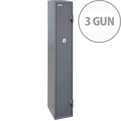 Phoenix Tucana GS8015K Gun Safe With Key Lock For 3 Guns Grey