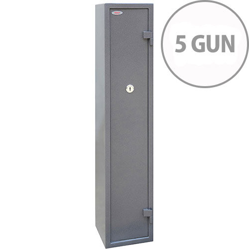 Phoenix Tucana GS8016K Gun Safe With Key Lock For 5 Guns Grey