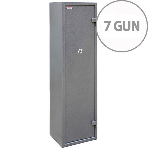 Phoenix Tucana GS8017K Gun Safe With Key Lock For 7 Guns Grey