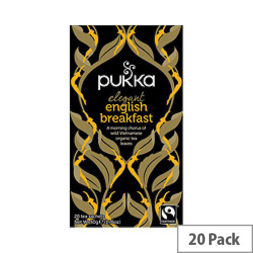 Pukka English Breakfast Fairtrade Organic Tea Bags Pack 20