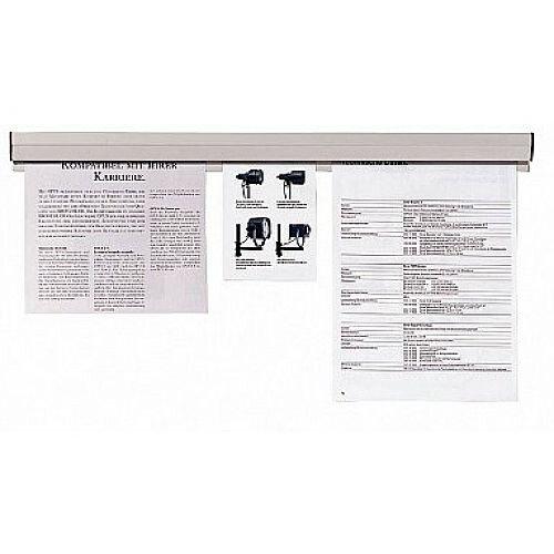 Franken Plastic Paper Holder Rail 100x4cm Grey PKS100