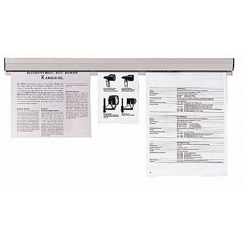 Franken Spring Loaded Paper Holder Clamp Grey 118 x 4cm