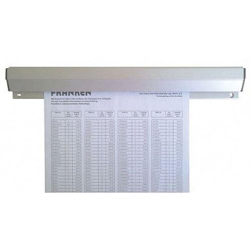 Franken Aluminium Paper Holder Rail 100x4cm Silver PKSA100