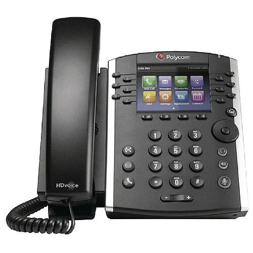 Polycom VVX 400 TFT Black Wired Handset. Digital Back light Display, Skype For Business And Office 365 Compatible, Call Transfer, Speed Dial &More.