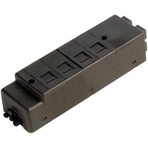 Under desk power bar 4 x RJ45 sockets - black