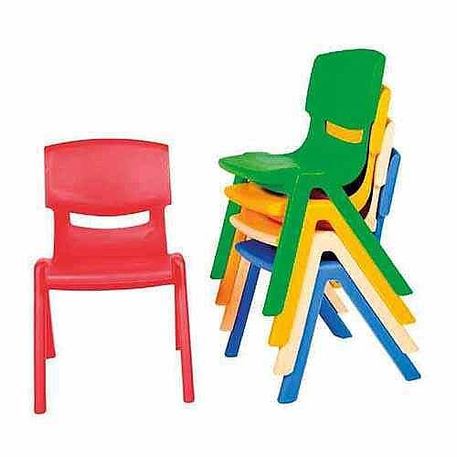 Kite Easy Stack Plastic Chair 44cm Green
