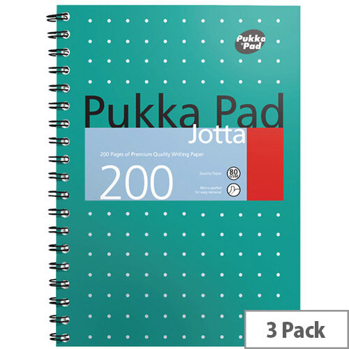 Pukka Metallic Jotta Notebook B5 Pack of 3 8520-MET