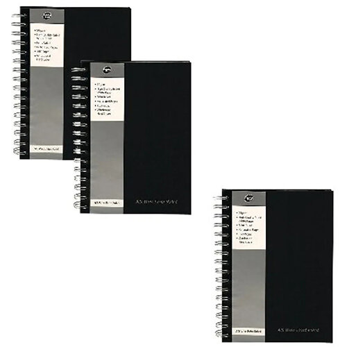 Pukka Pad A5 Wirebound Book Black Get 3 for the Price of 2 (Pack of 10 + 5) PP816964