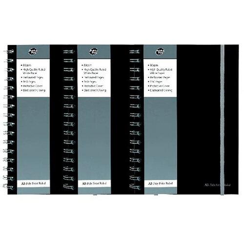 Pukka Pad Polypropylene Ruled Jotta Notebook A5 Black (Pack of 3) 3 for 2 PP816973
