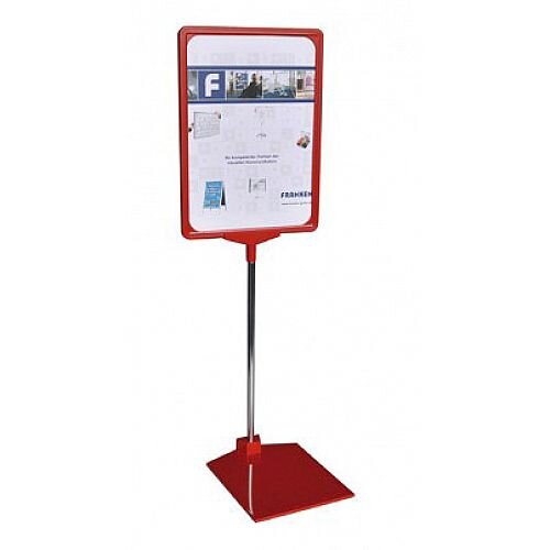 Franken Presentation Display Stand A4 Red PSM A4 01