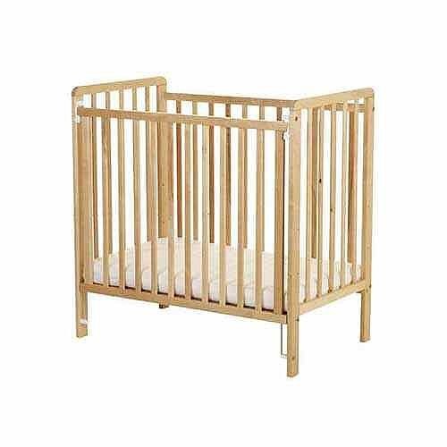 Standard Beech Cot – Heavy Duty, Coated With A Tough Clear Lacquer, Acrylic End, Strong Design, Standard Compliant &Mattress Included