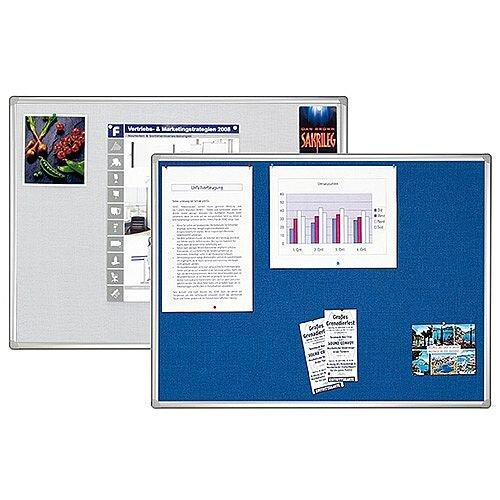Franken Blue Felt Pin Board PRO Aluminium Frame 900x600mm PT830203