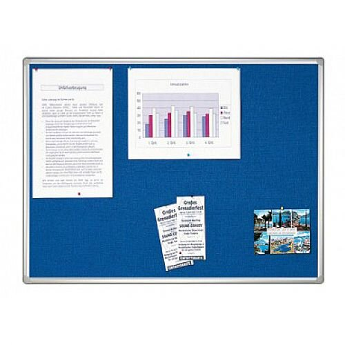 Double Sided Felt Notice Board 1800 x 1200mm Franken Pro Partition System Blue