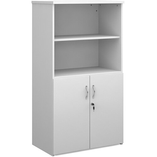 Universal combination unit with open top 1440mm high with 3 shelves - white