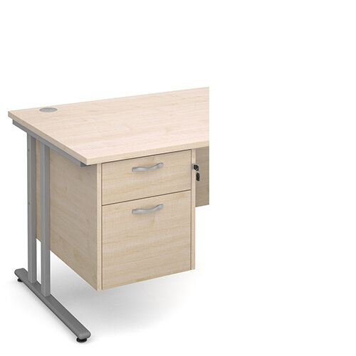 Maestro 25 2 drawer fixed pedestal - maple