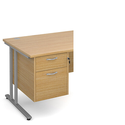 Maestro 25 2 drawer fixed pedestal - oak