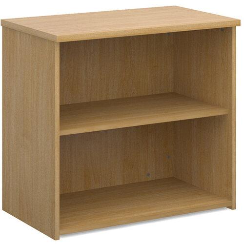 Universal bookcase 740mm high with 1 shelf - oak
