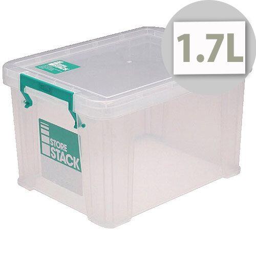 StoreStack Clear 1.7 Litre Storage Box W200 x D130 x H110mm RB00815