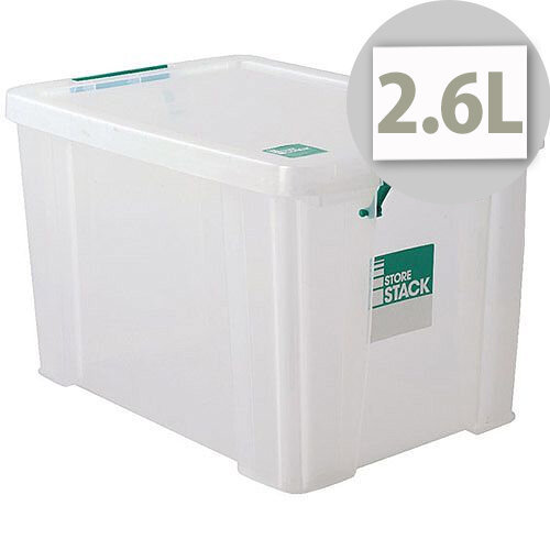StoreStack Clear 2.6 Litre Storage Box W240 x D130 x H140mm RB00816