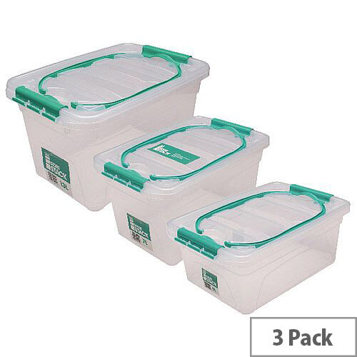 StoreStack Carry Box Set of Multiple Sizes Pack of 3 RB01033