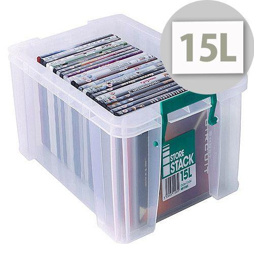 StoreStack 15L Plastic Storage Box W300xD470xH170mm RB11085