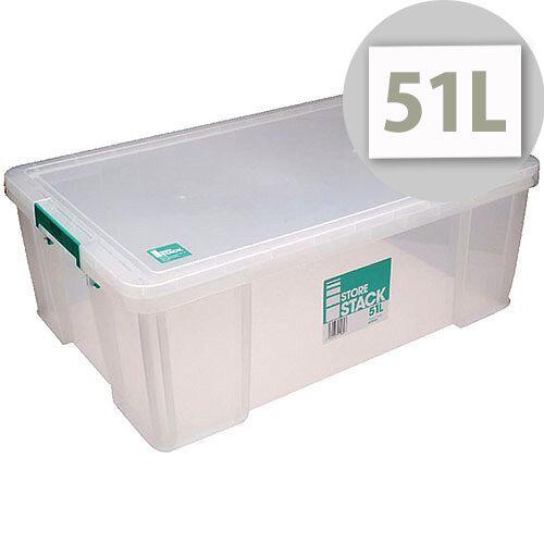 StoreStack 51L Plastic Storage Box W660xD440xH230mm RB11089