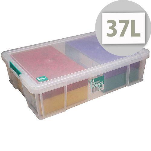 StoreStack 37 Litre Box Clear W680 x D440 x H170mm RB75899