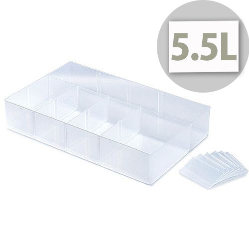 StoreStack Small Tray Clear. Capacity Of 5.5 Liters &Easily Stackable. Suitable For Domestic, Office, School, Hospital Or Warehouse Use.