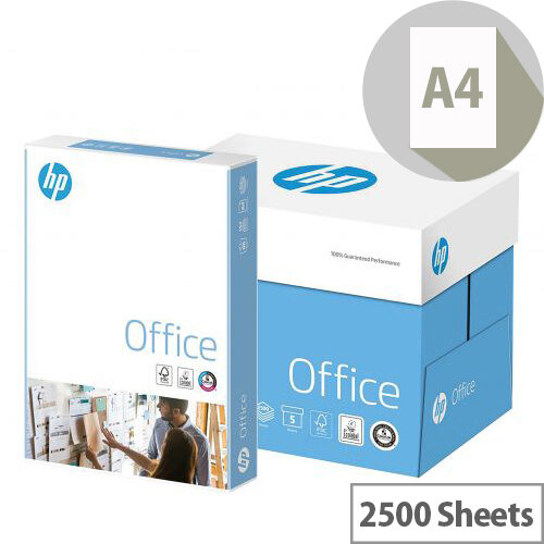 HP White Office A4 Paper 80gsm Pack of 2500