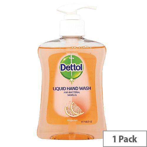 Dettol Moisture Handwash Liquid Soap With Grapefruit Fragrance 250ml (Pack 1) 8071864