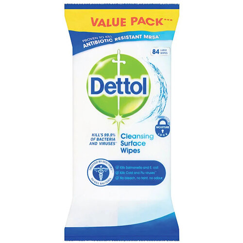 Dettol Antibacterial Surface Cleanser Wipes Pack of 84 RB784365