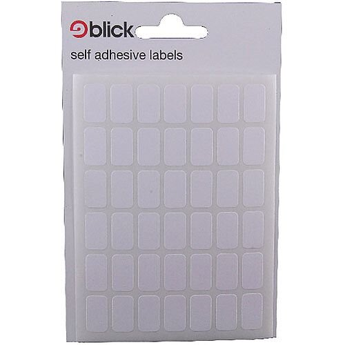 Blick Label Bag 9x16mm White 20 x 294 Labels (5880 in Total) RS002550