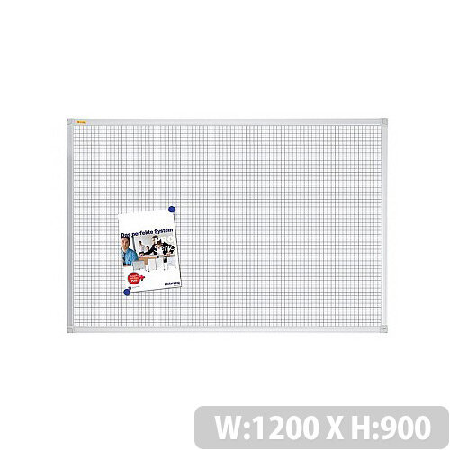 Franken Grid Board ValueLine 1200x900mm Lacquered Steel RT3803